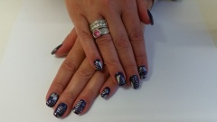 Color gel paars met folie en filigree